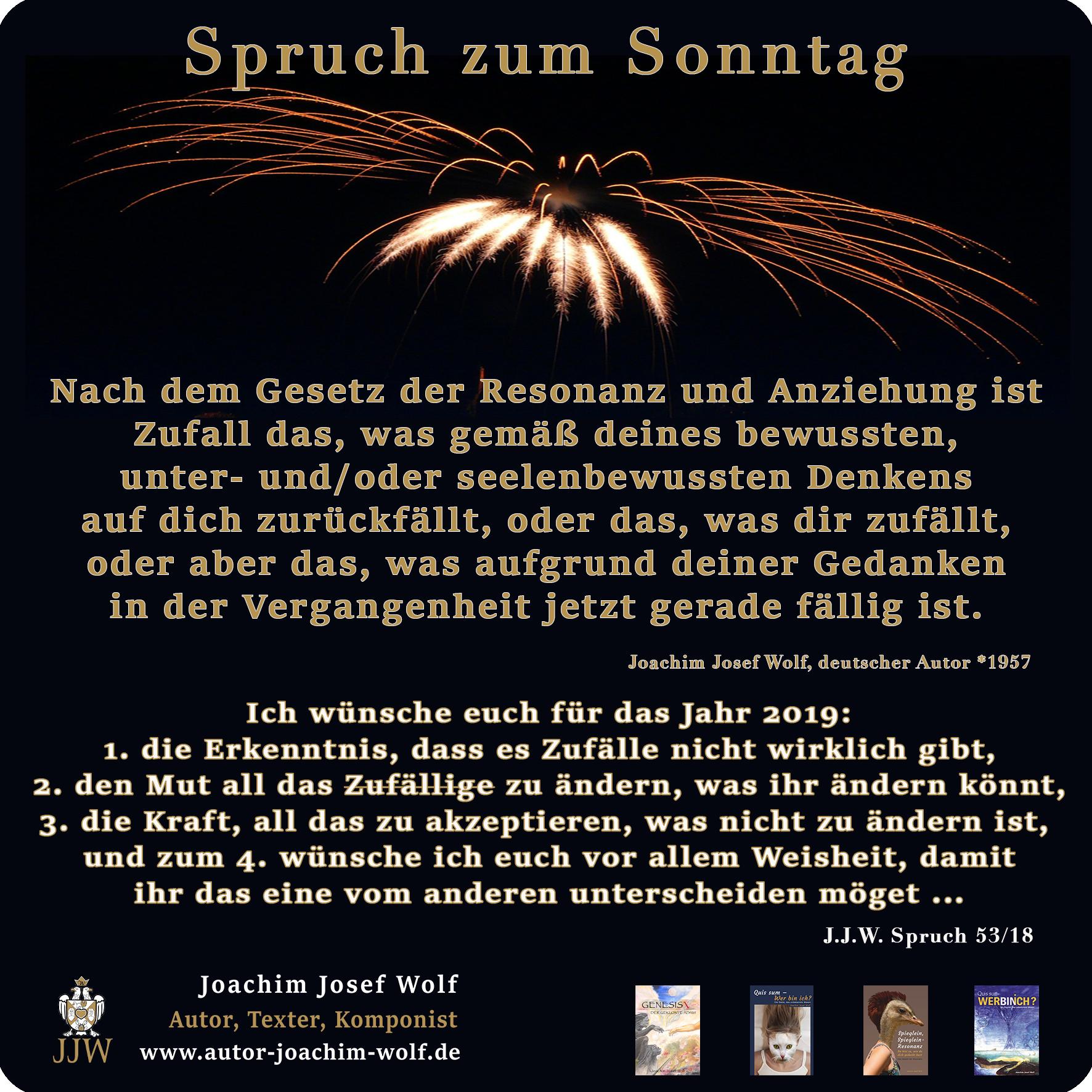 005 Sprüche Z Sonntag 2018 Joachim Josef Wolf Autor Und